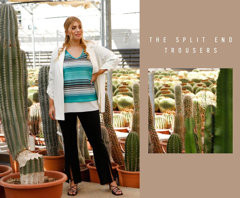 The split end trousers Parabita