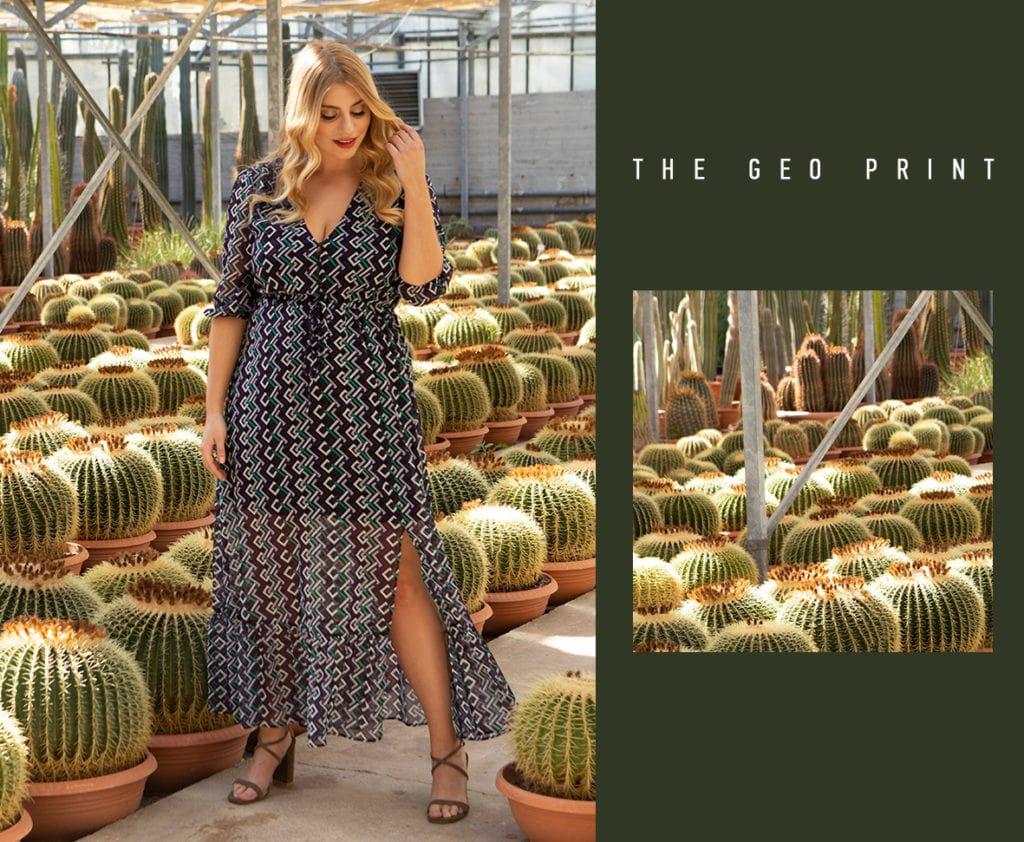 The geo print dress Parabita