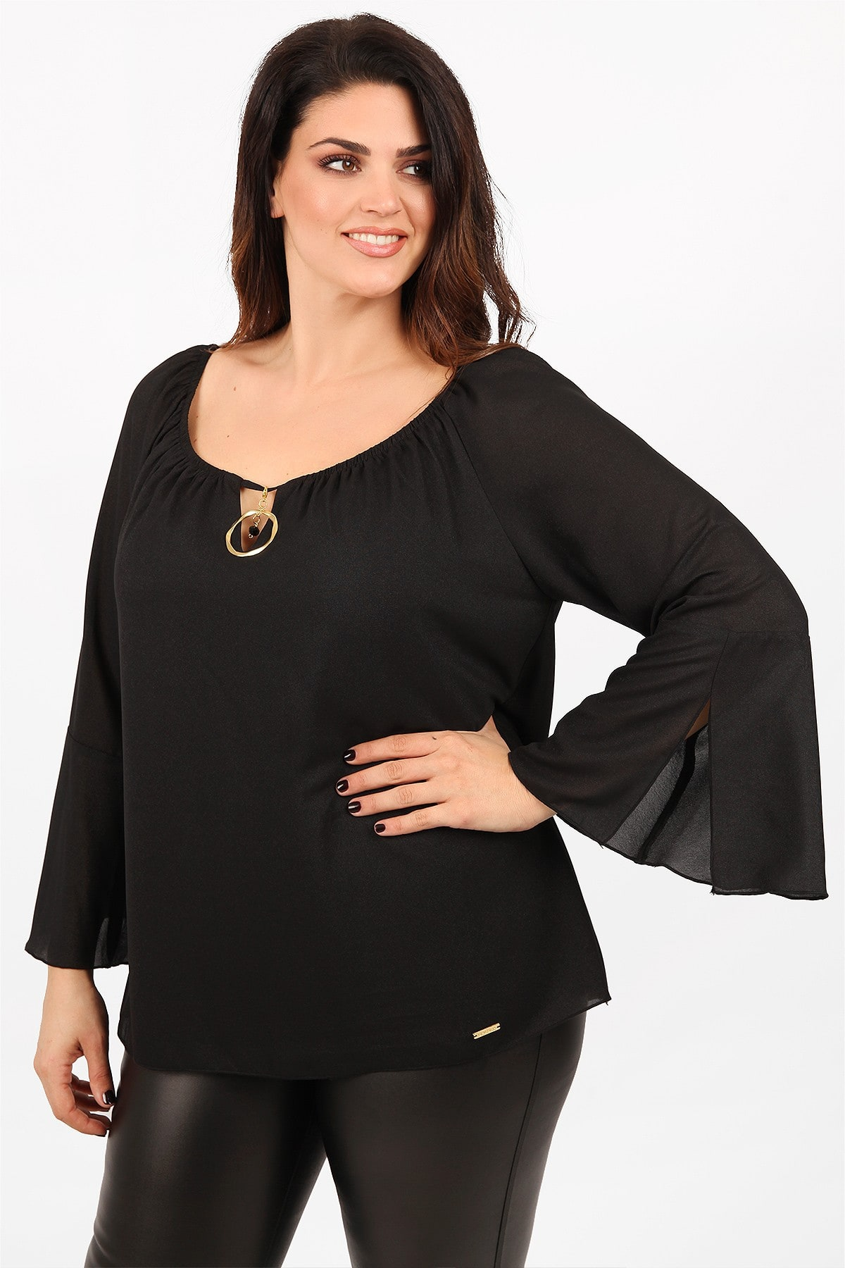 Blouse lurex with jewel