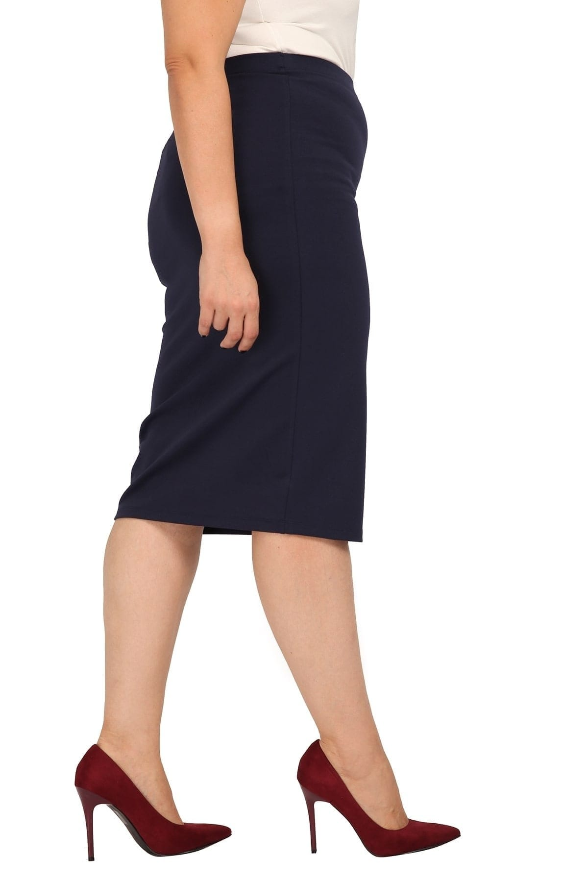 Midi pencil stretchy skirt