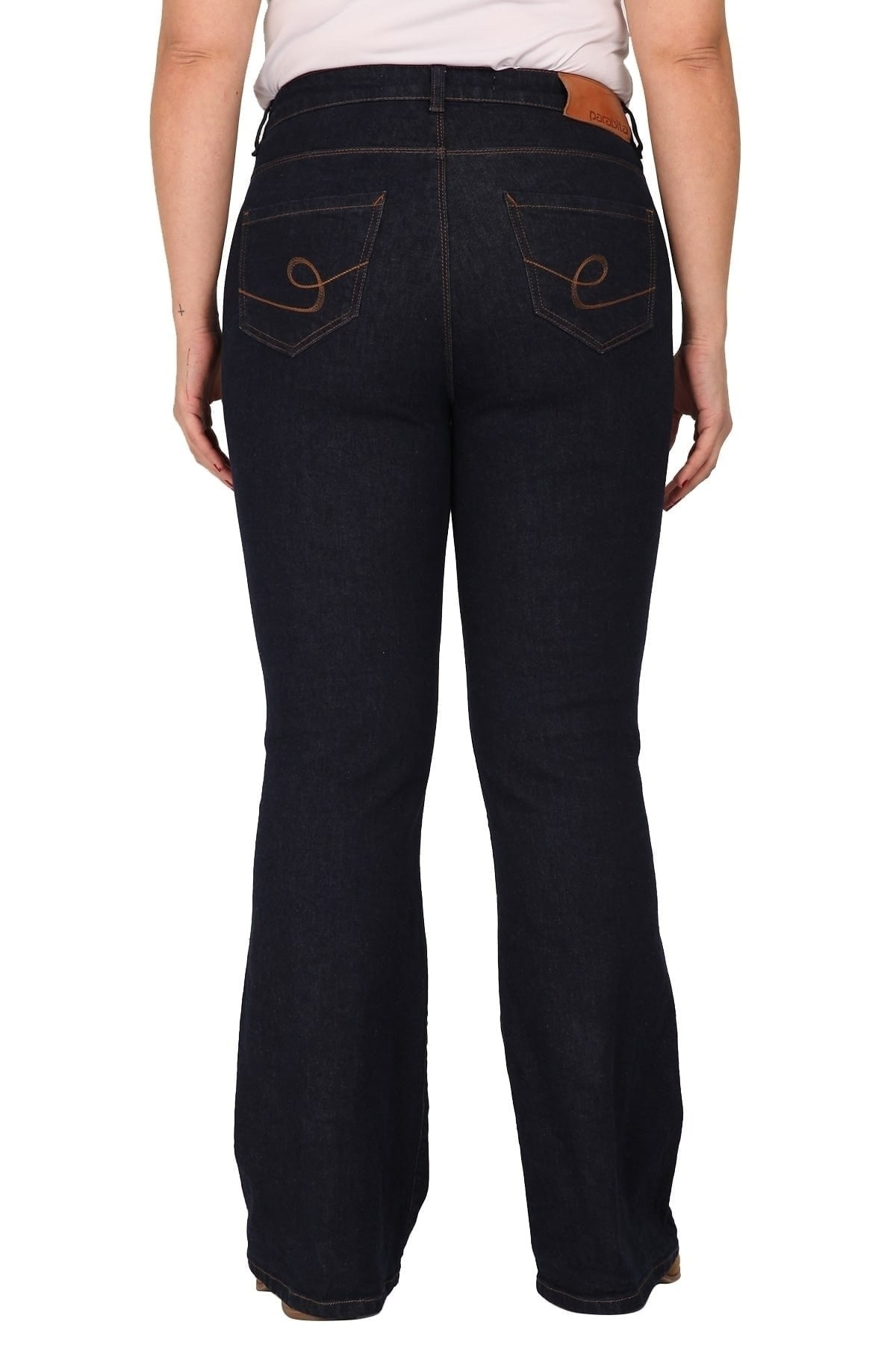 Flare dark blue fit jeans