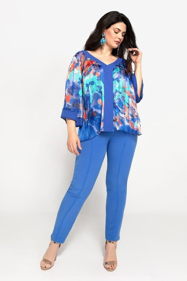 Top in printed muslin
