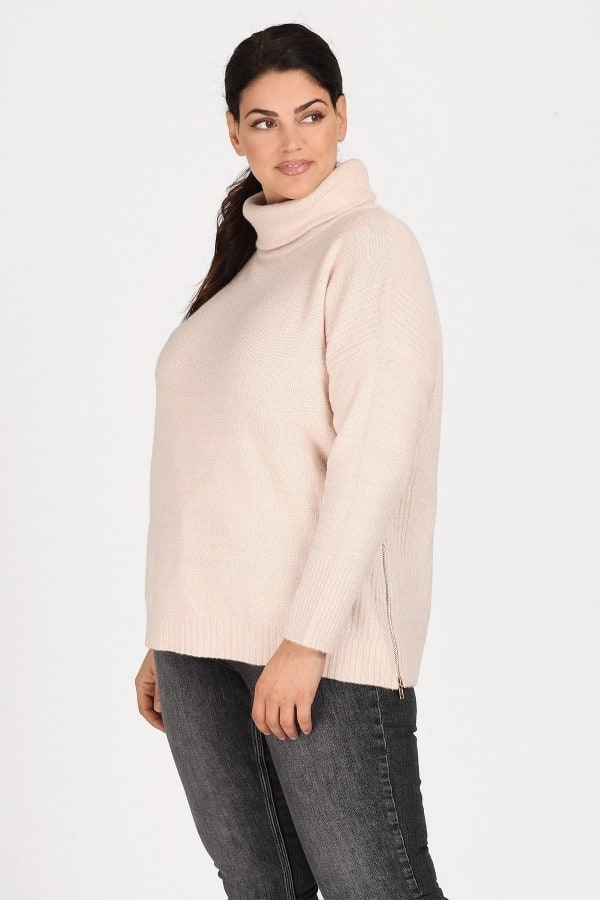 Lurex sweater with turtle neck