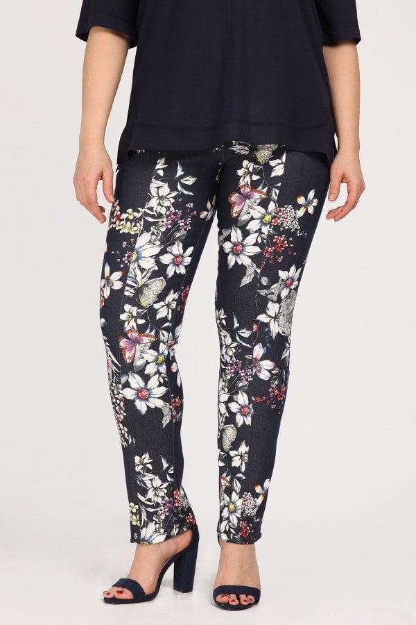 Floral treggings jeans style