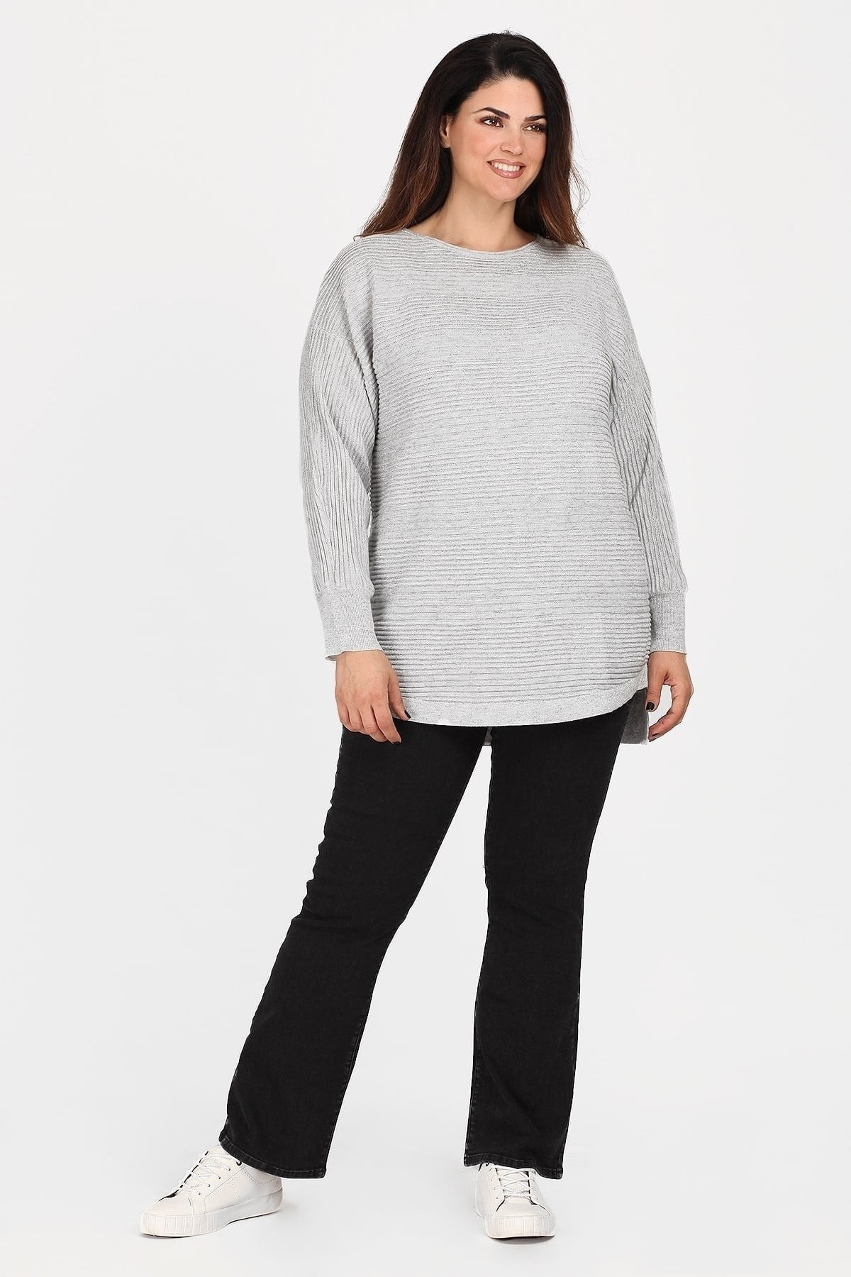 Knit blouse with lurex