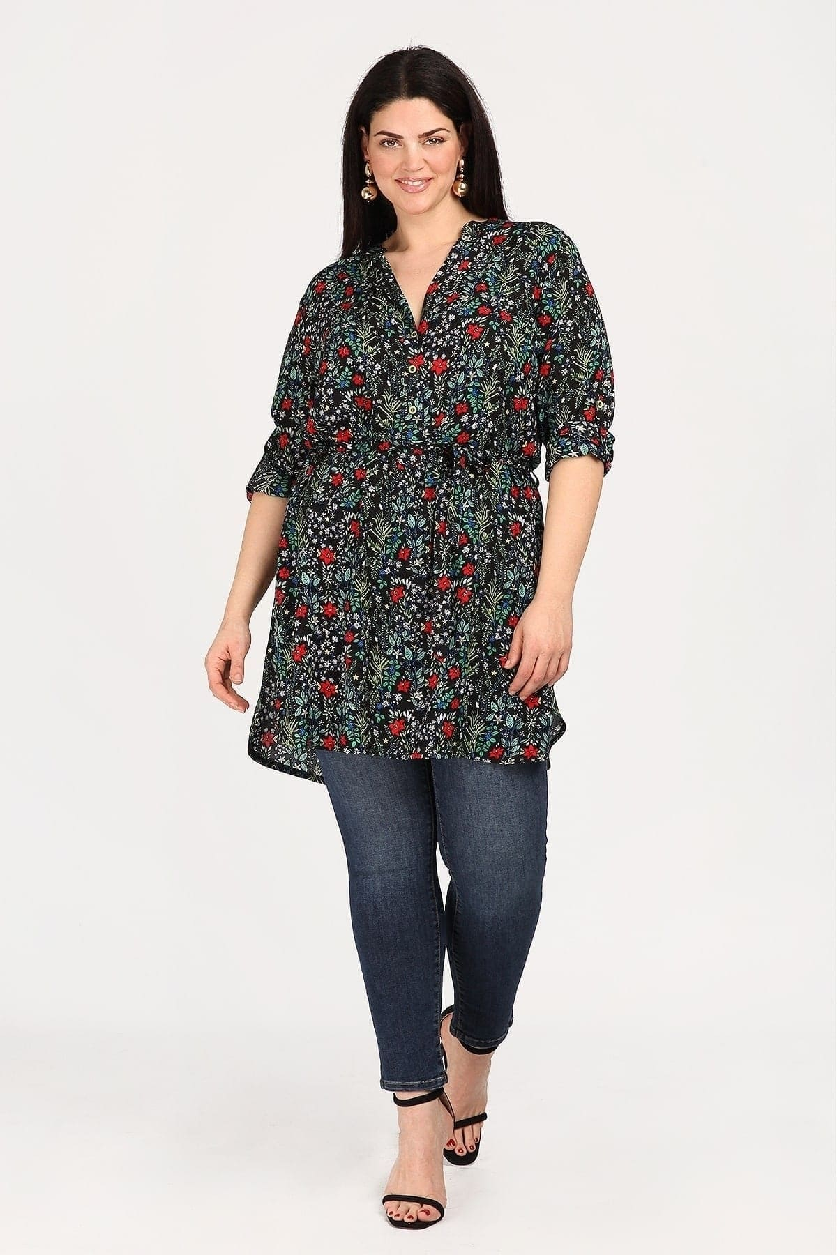 Printed floral tunic
