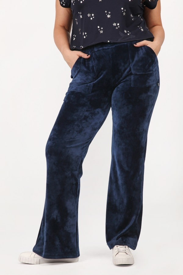 Veloute sporty pants with pockets