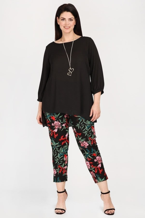 Shirt blouse from georgette