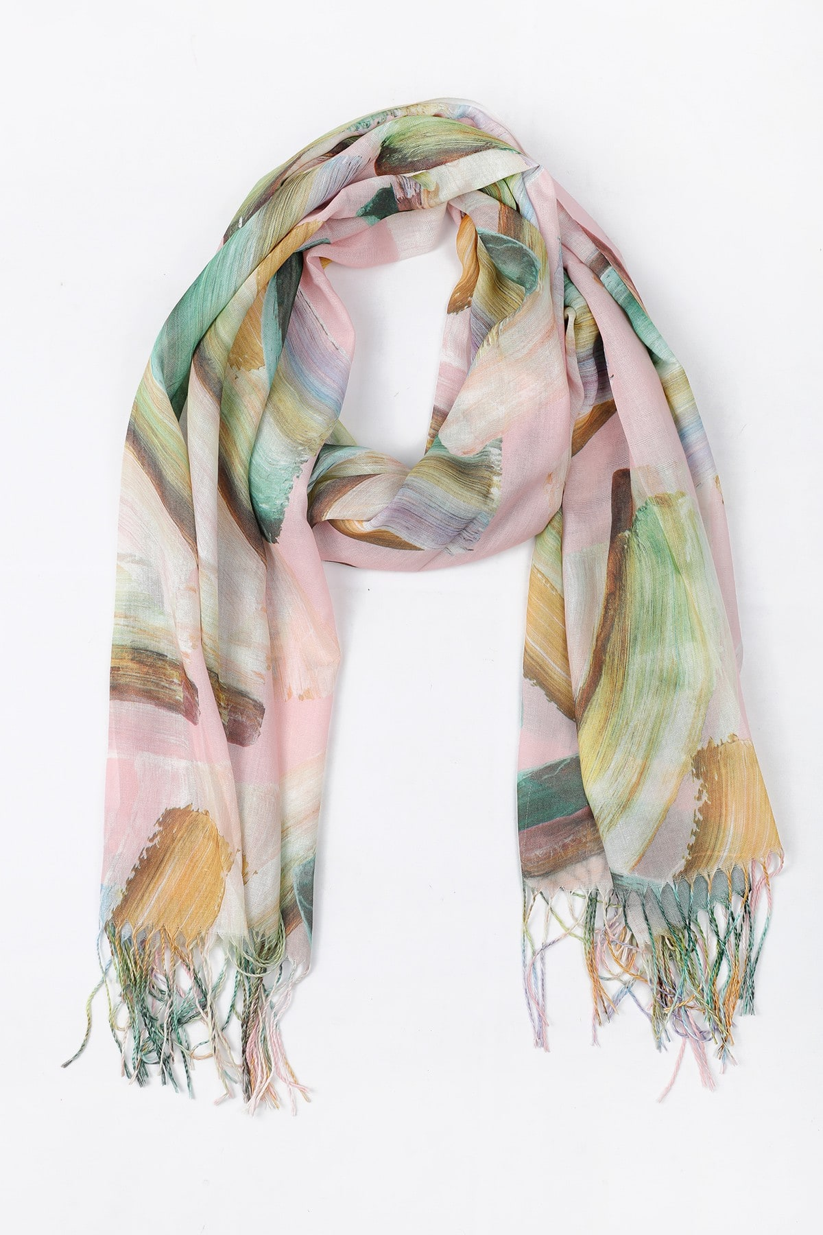 Printed abstract scarf