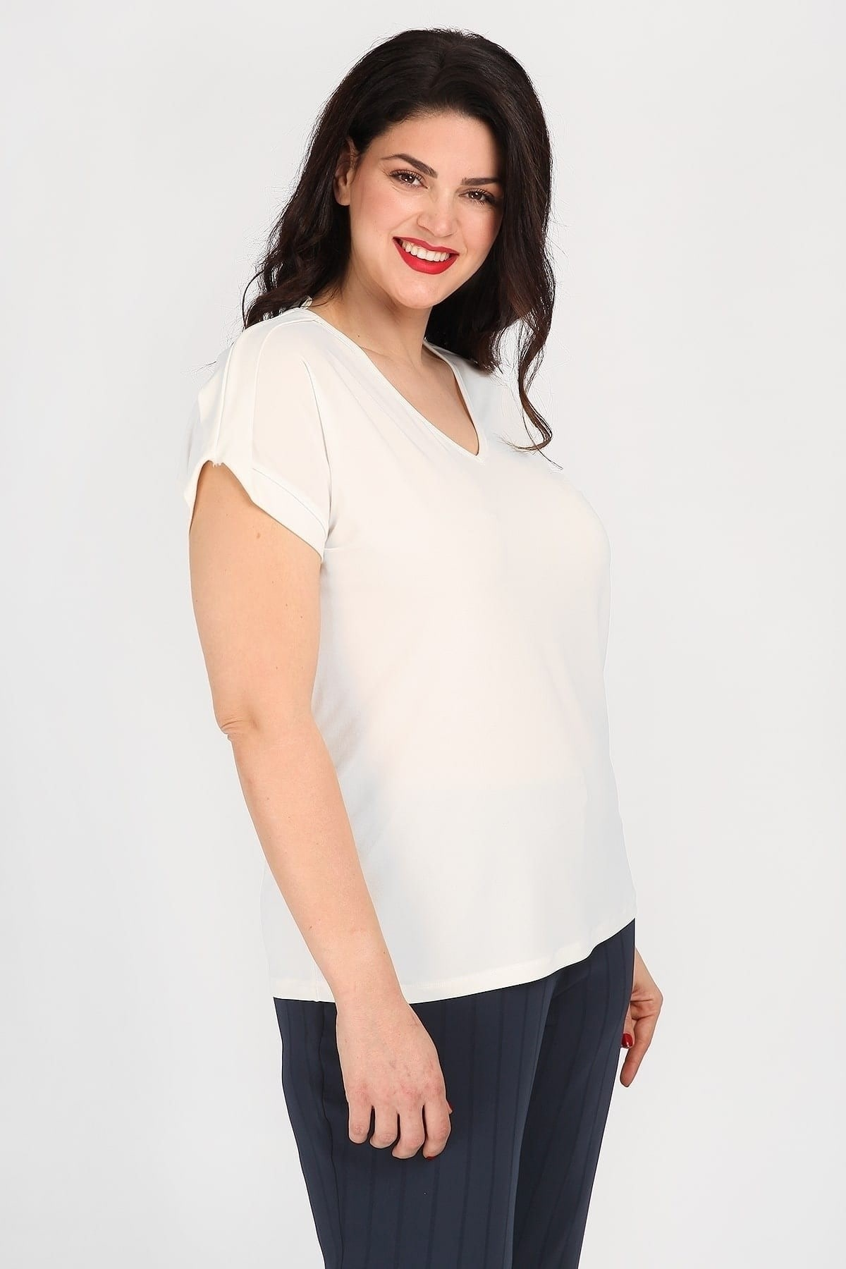 Shortsleeved top from super jersey