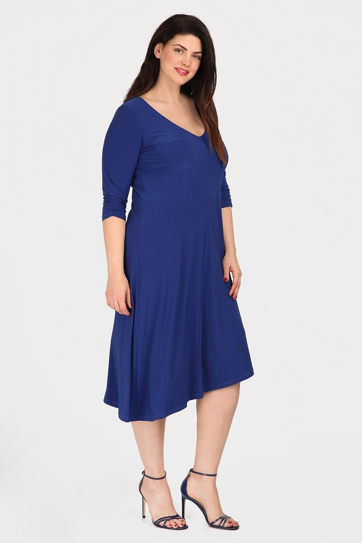 Αsymetrical midi dress from super jersey