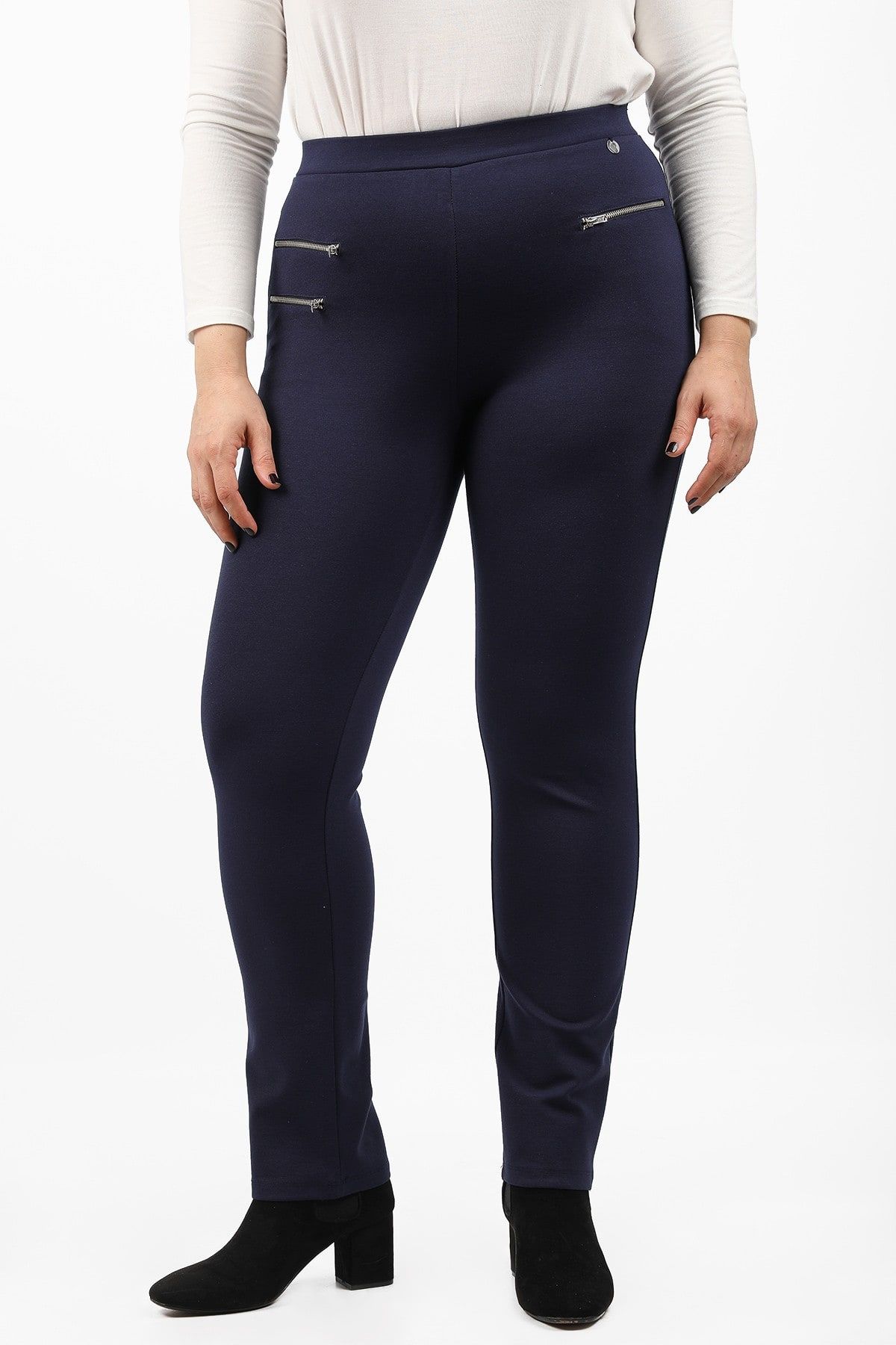 Treggings with zippers