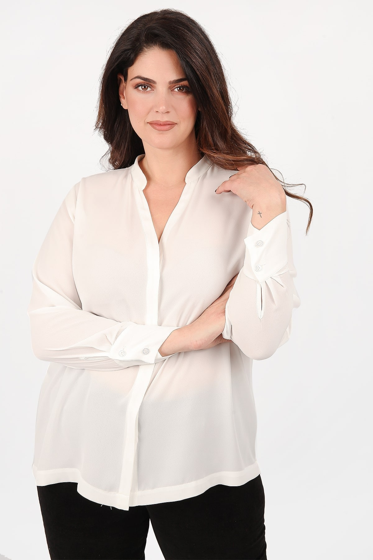 Classic shirt from georgette
