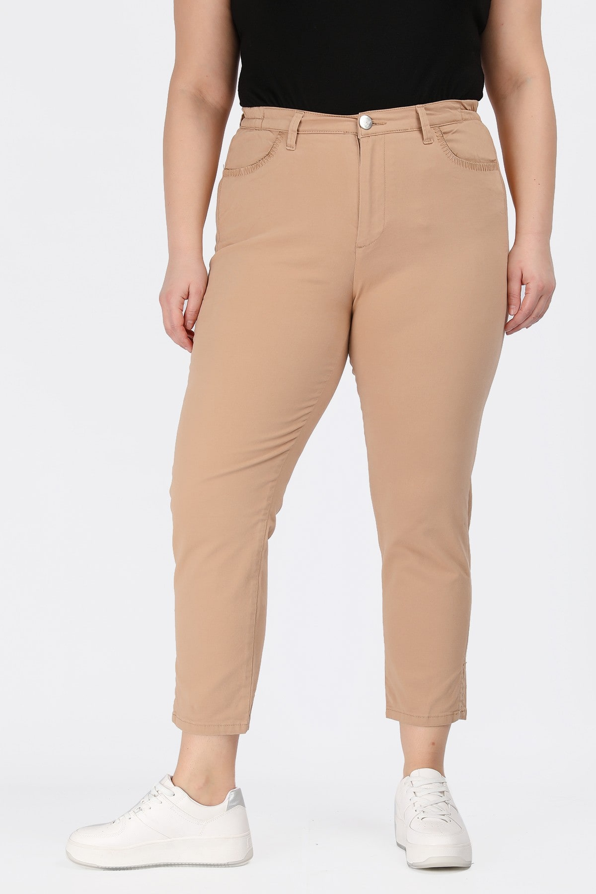 Cotton ankle trousers