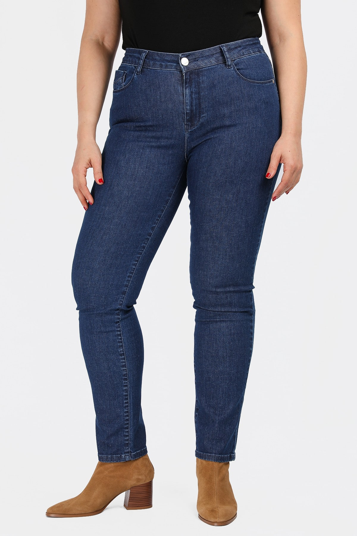 Slim fit denim trousers