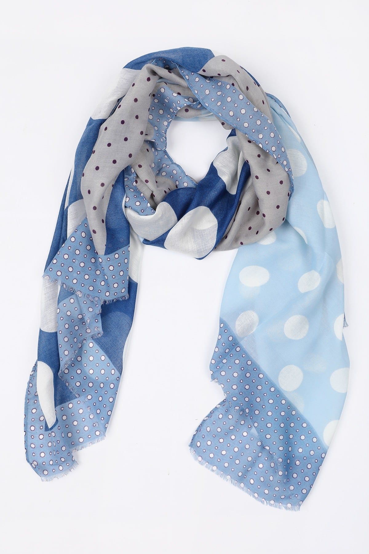 Scarf dots combination print
