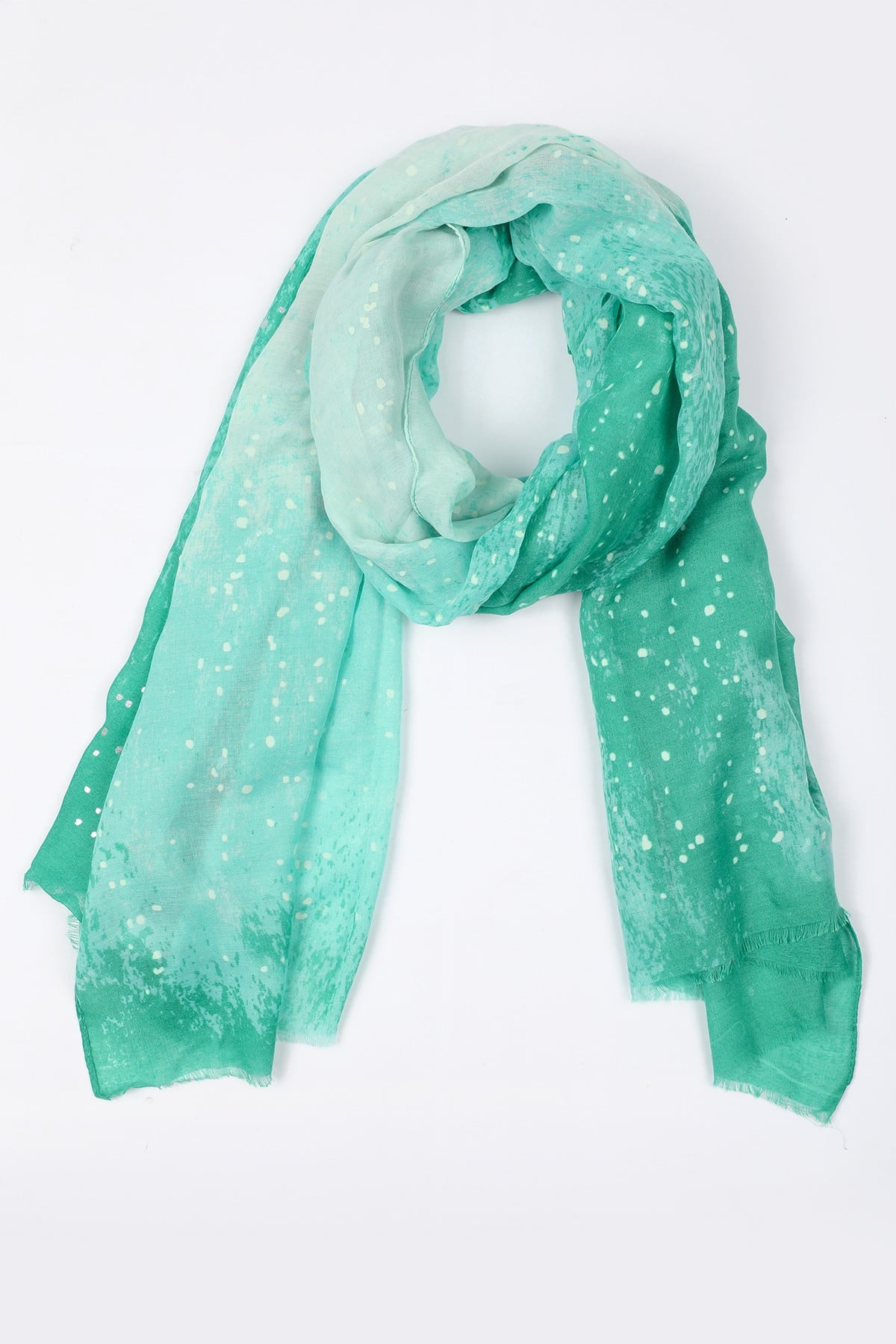 Scarf with metallic spots