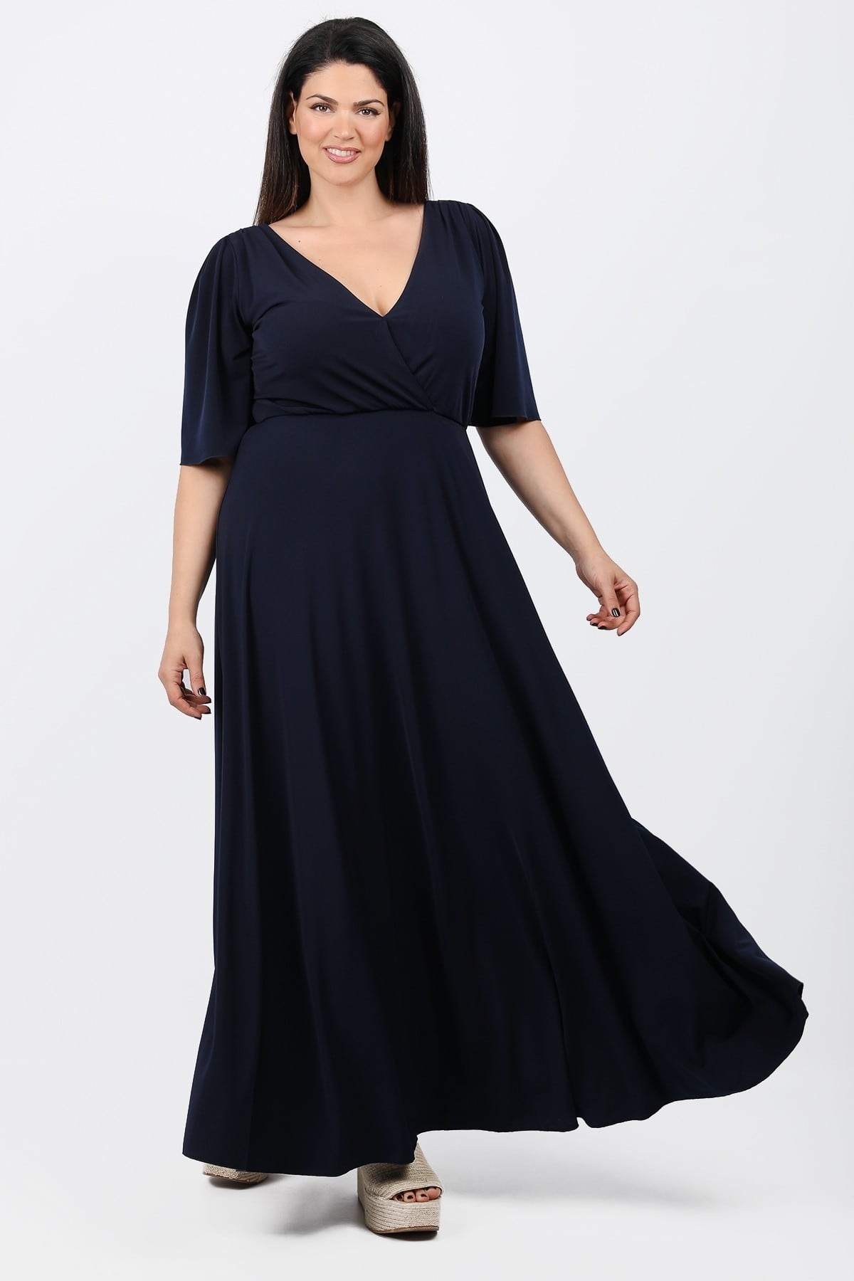 Maxi wrap dress from jersey