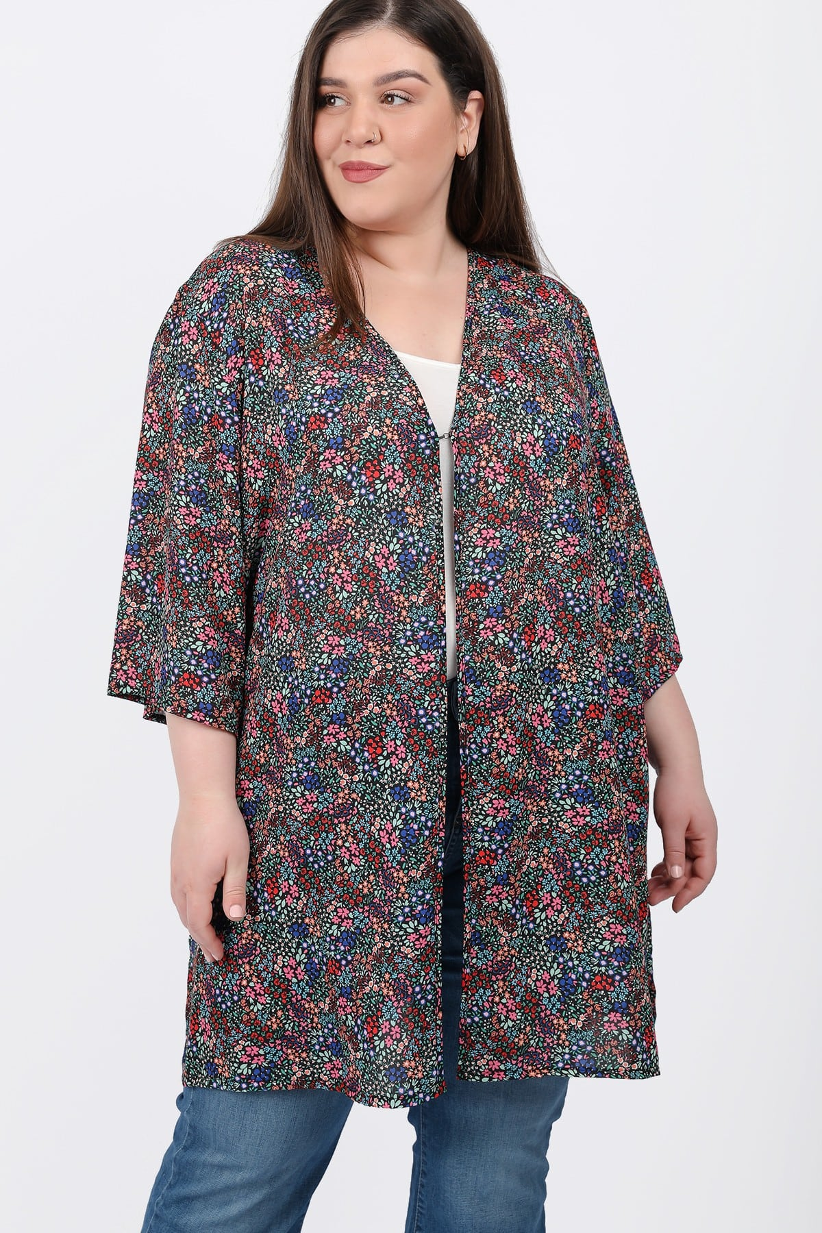 Floral printed kimono from georgette