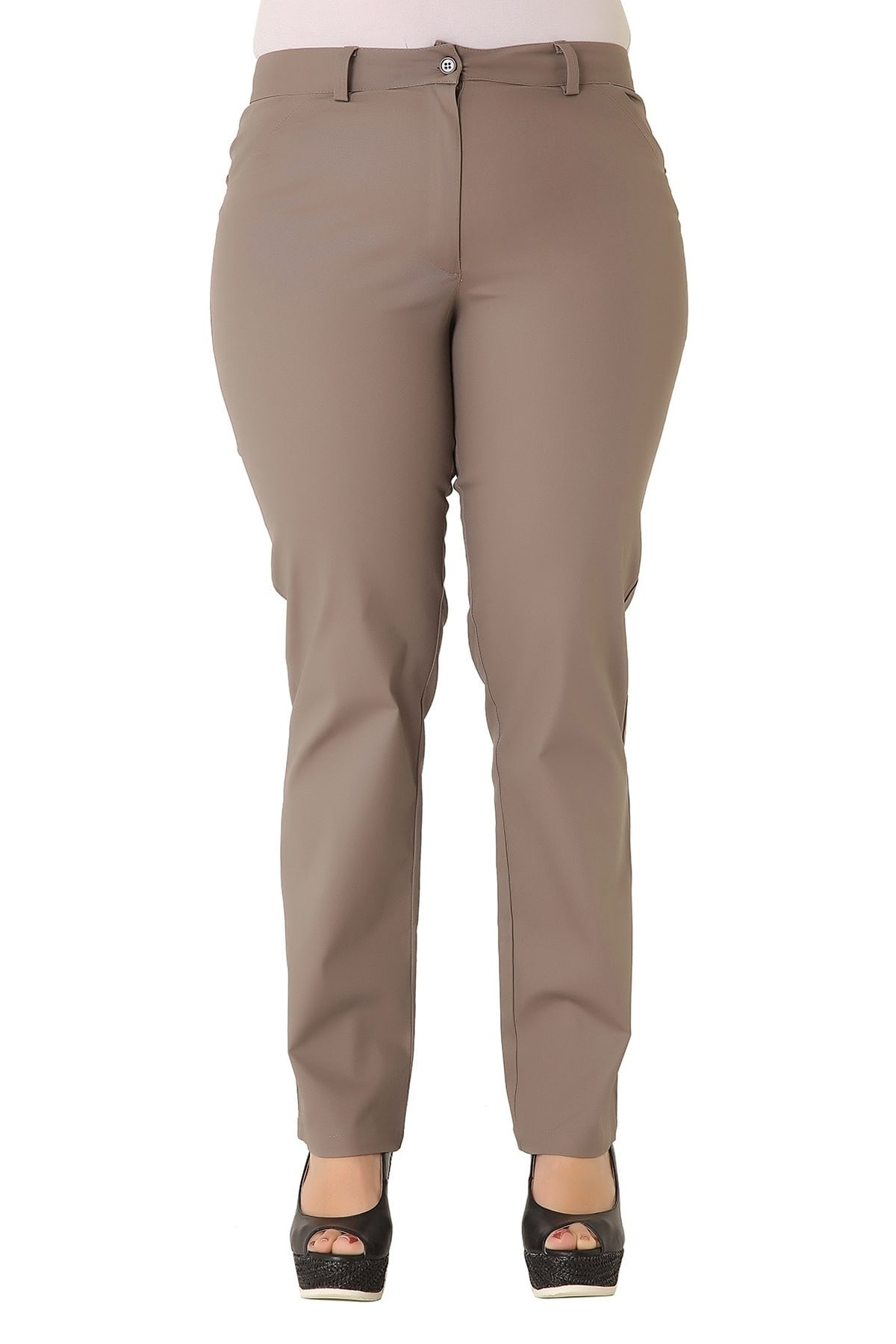 Slim fit cotton trousers with pockets