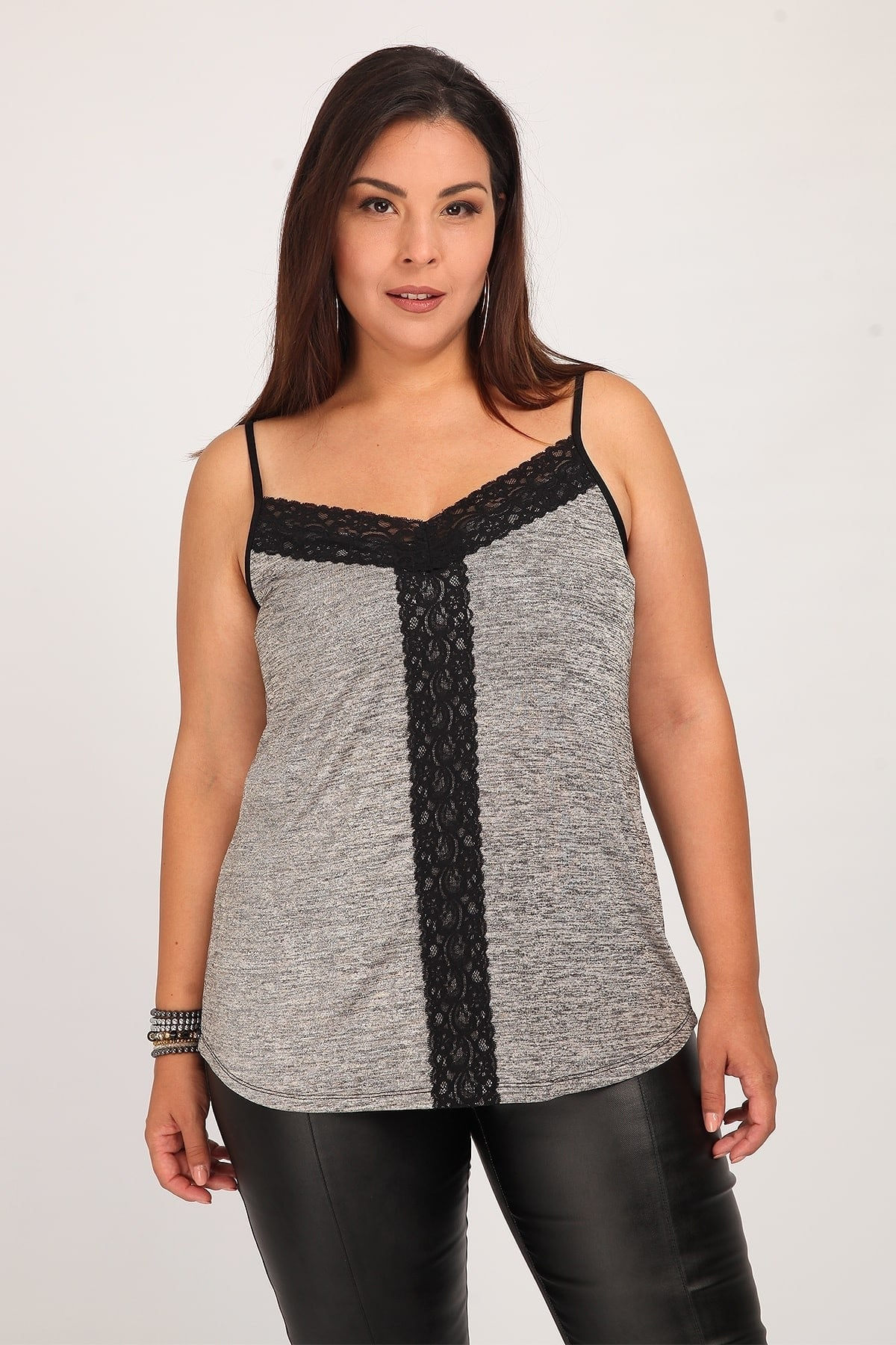 Lurex top with lace