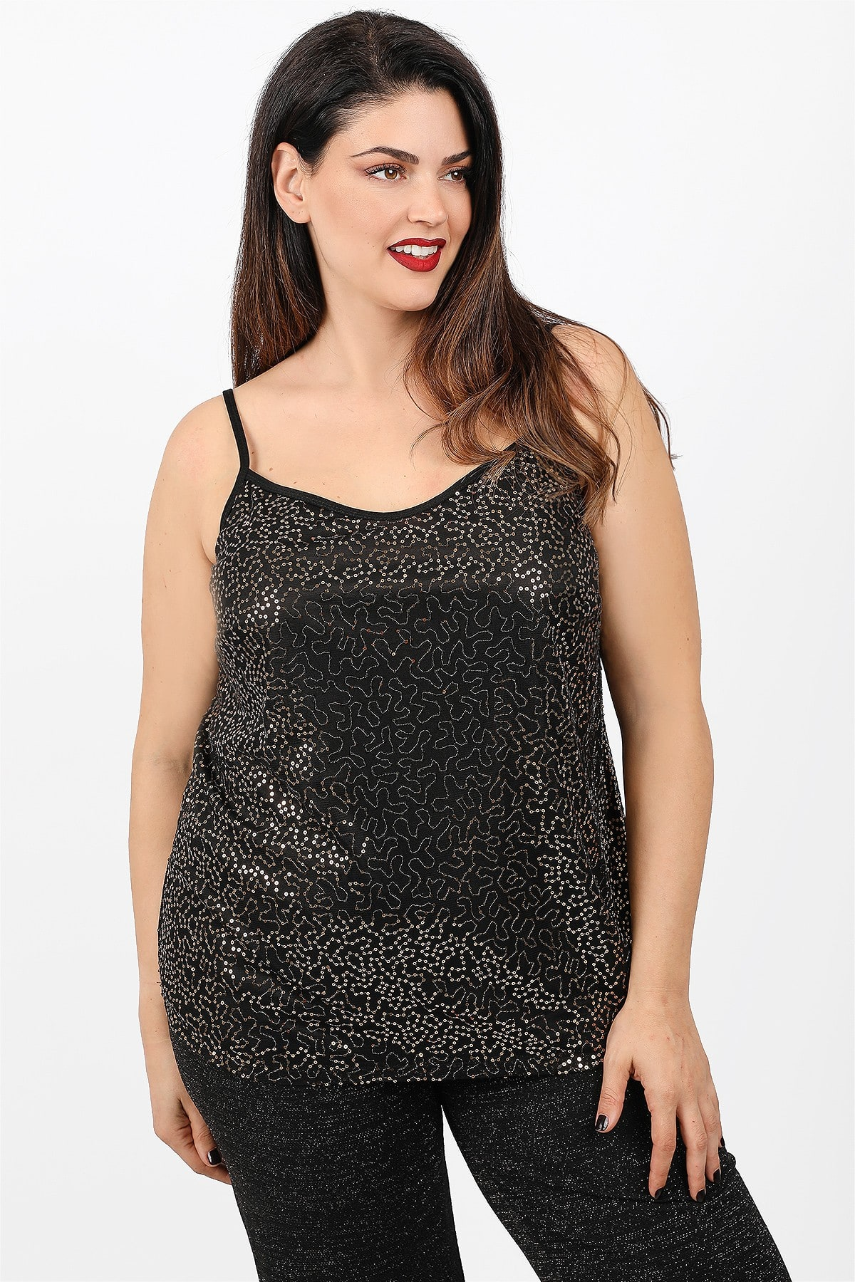 Strappy top with sequins