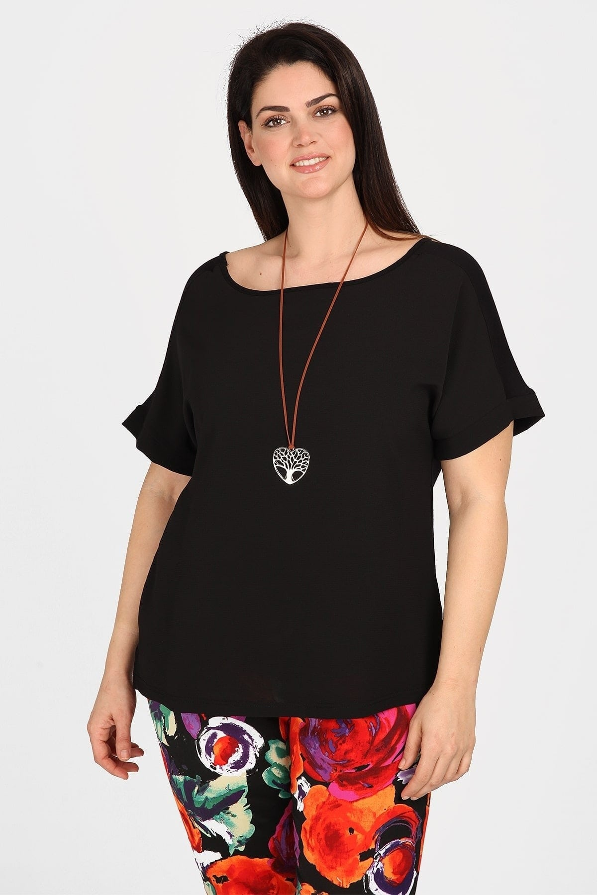 Blouse with short zapone sleeves