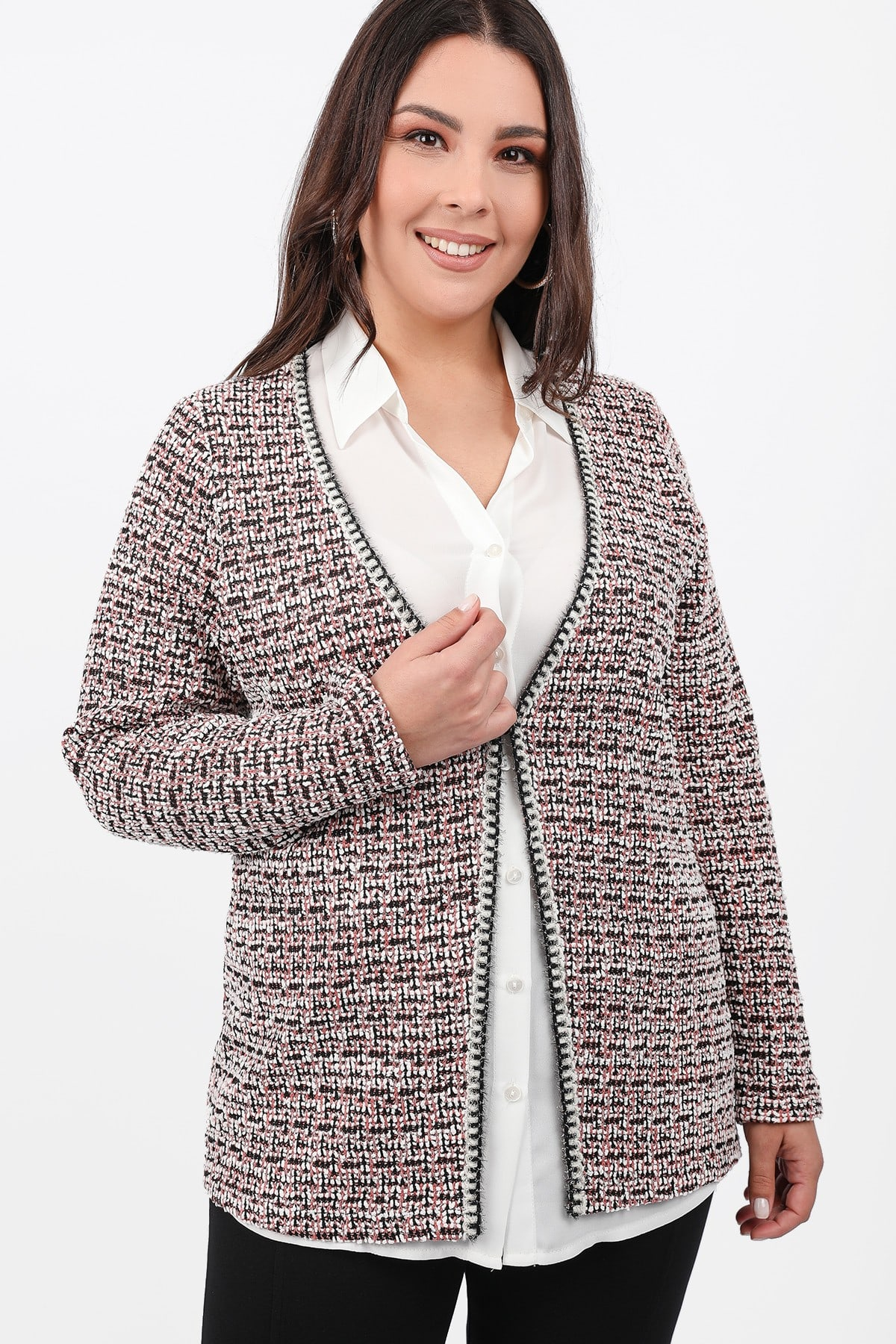 Set knit cardigan and shirt