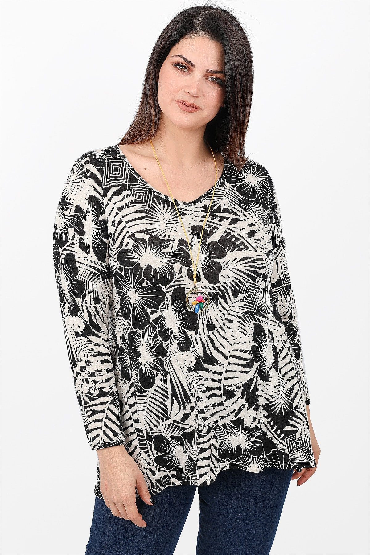 Blouse in florall print