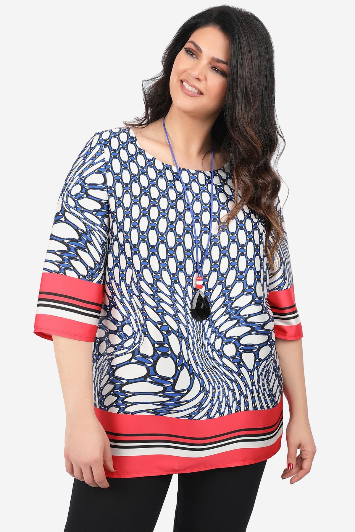 Tunic in a mix of prints