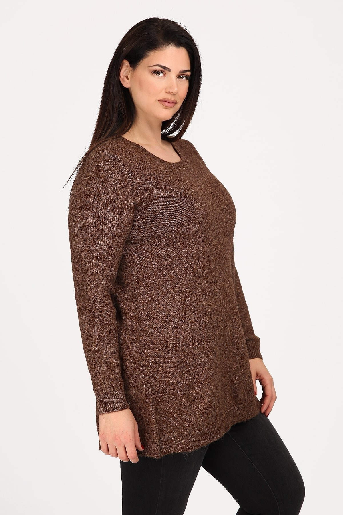 Knit blouse with a lace-up detail