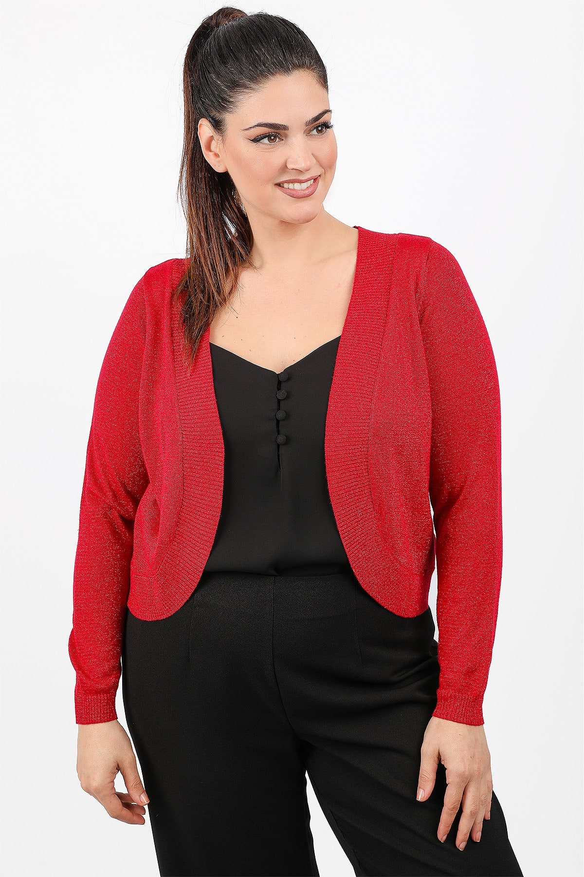 Knit bolero with lurex
