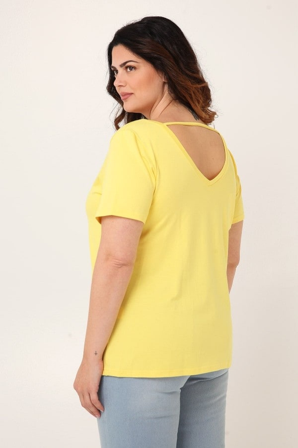 Viscose blouse with V-cut