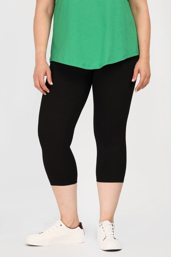 Basic viscose capri leggings