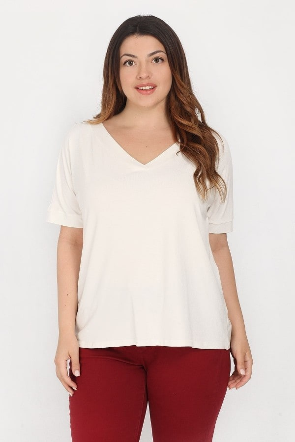 Viscose Basic top with V