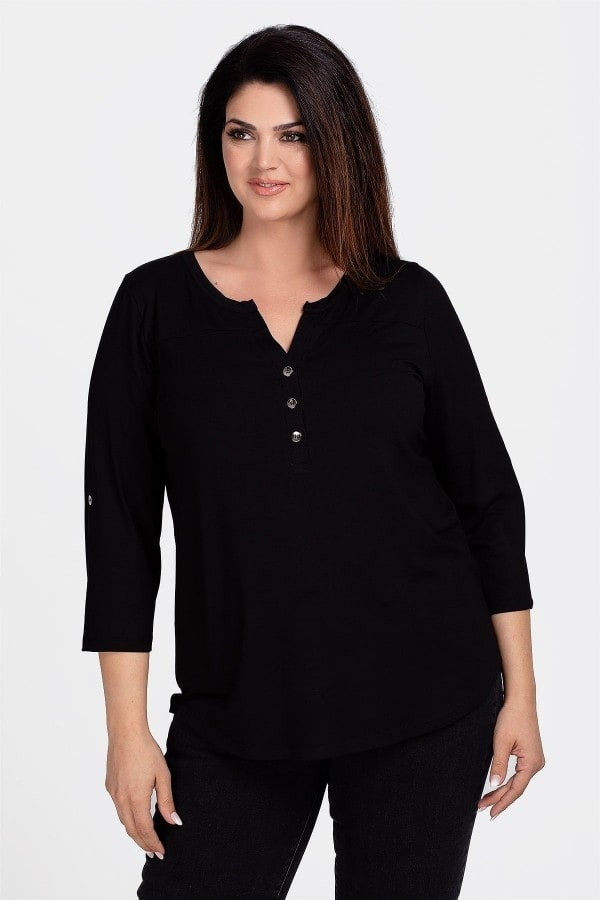 Basic buttoned blouse
