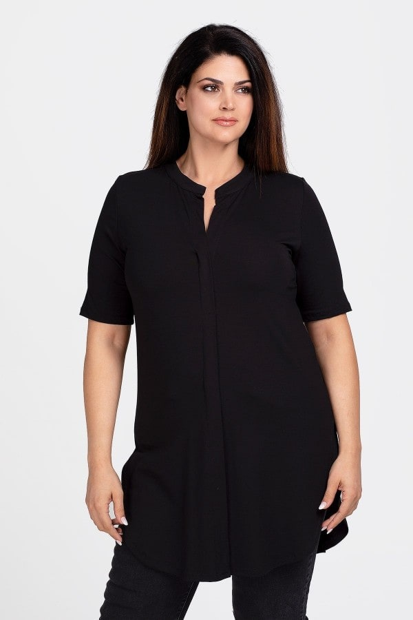 Basic tunic with mao neck