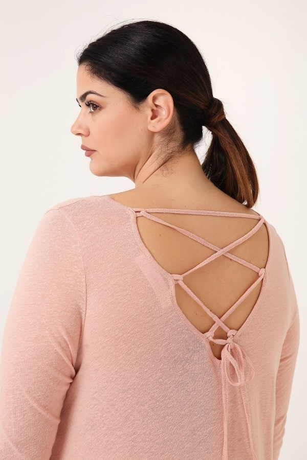 Skater top with lace-up back