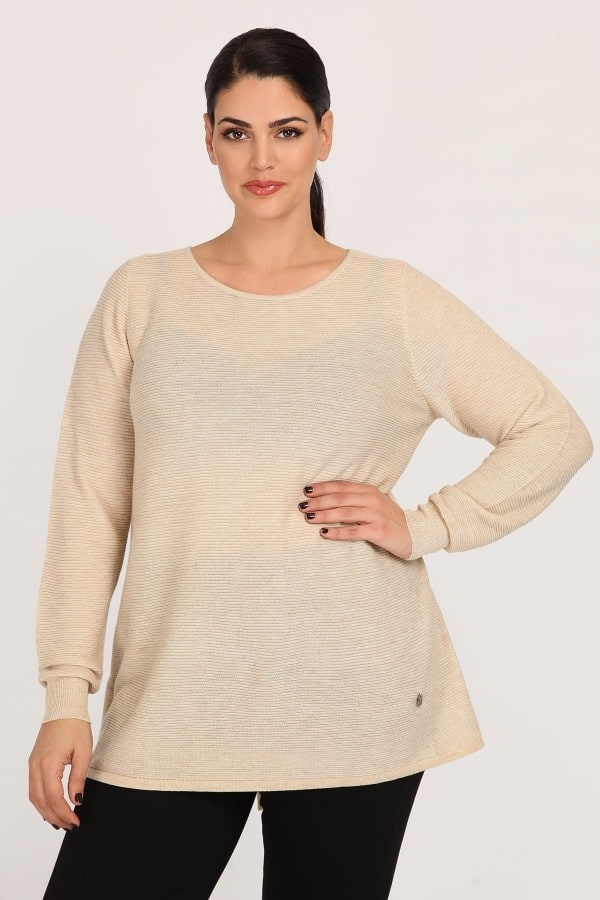 Pullover with crossover back detail