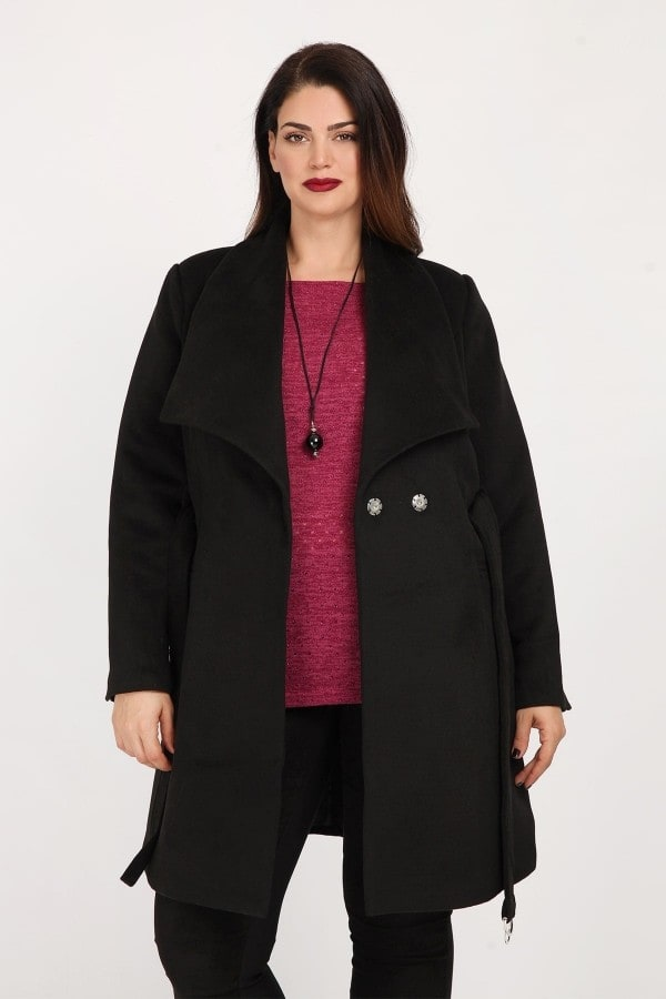 Peacoat with belt