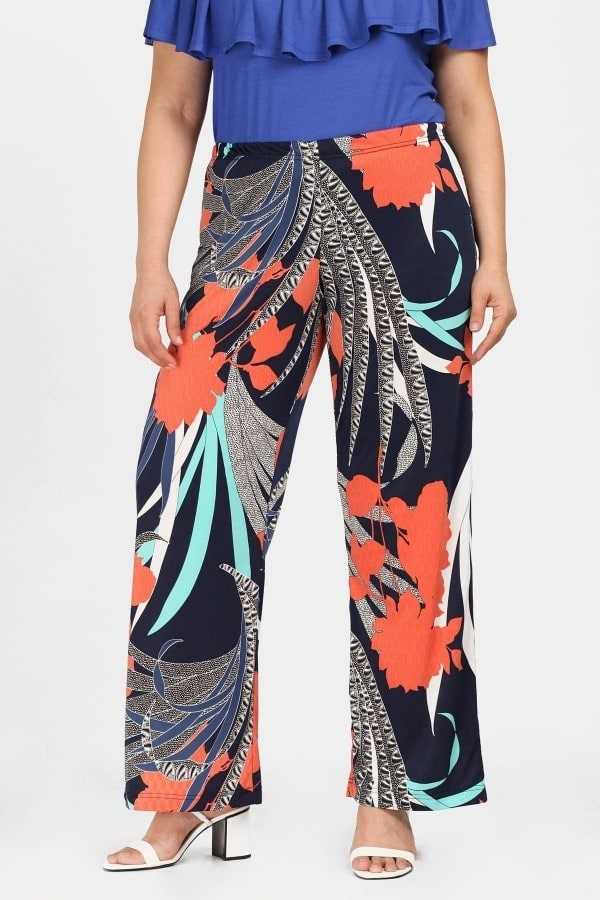 Super jersey print trousers