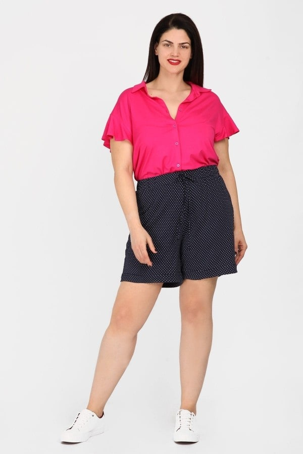 Polka dots viscose shorts