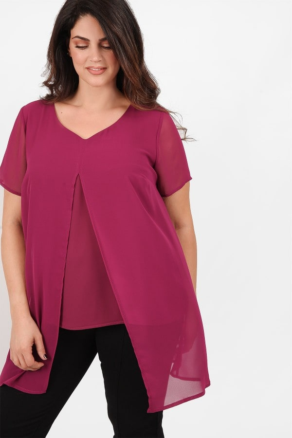 Tunic from double georgette