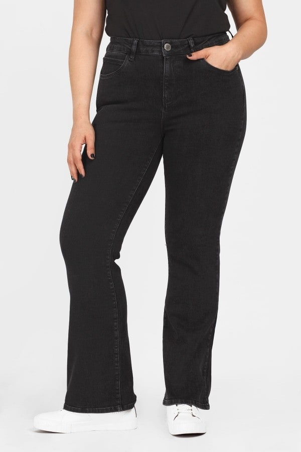 Flare black fit jeans
