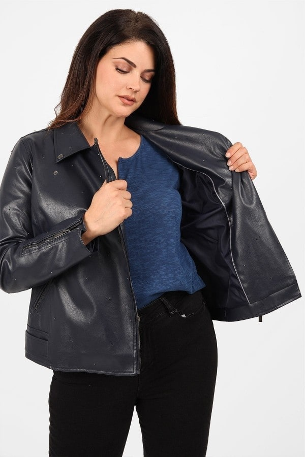 Perfecto faux leather jacket with zipper