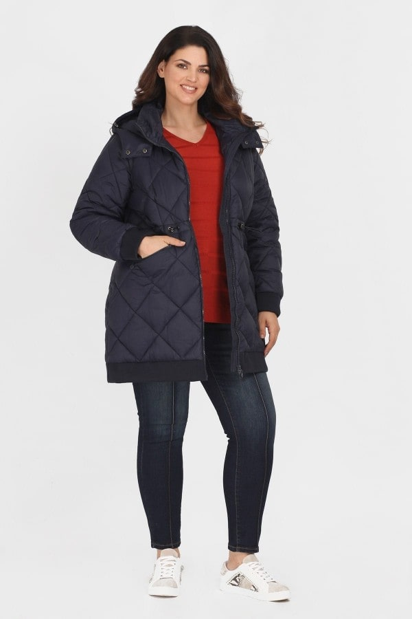 Puffer padded jacket with detachable hood