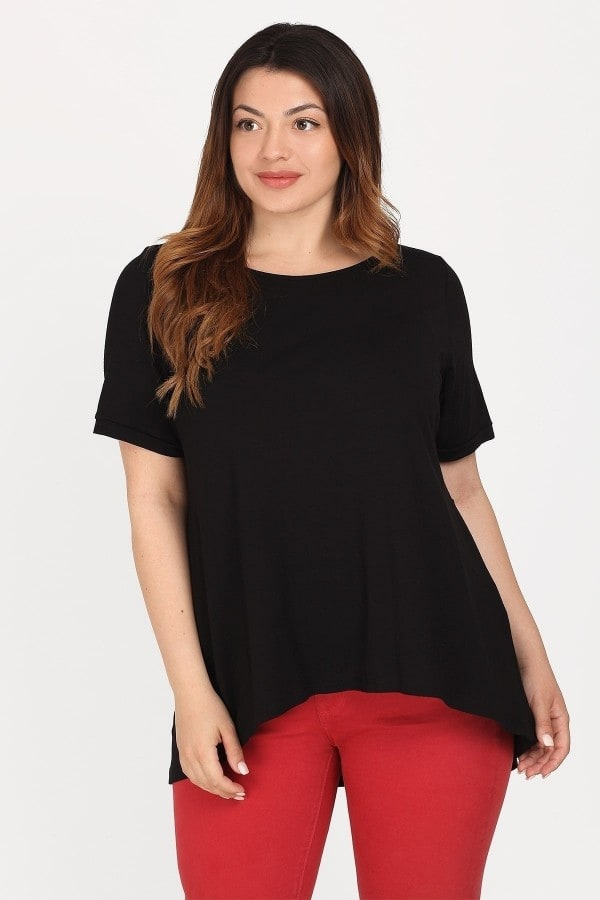 Viscose blouse with pleated back