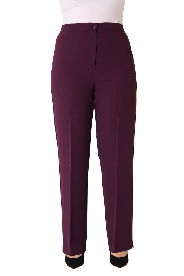 Classic crepe trousers with elastic waistband