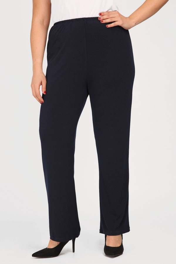 Jersey trousers with elastic waistband