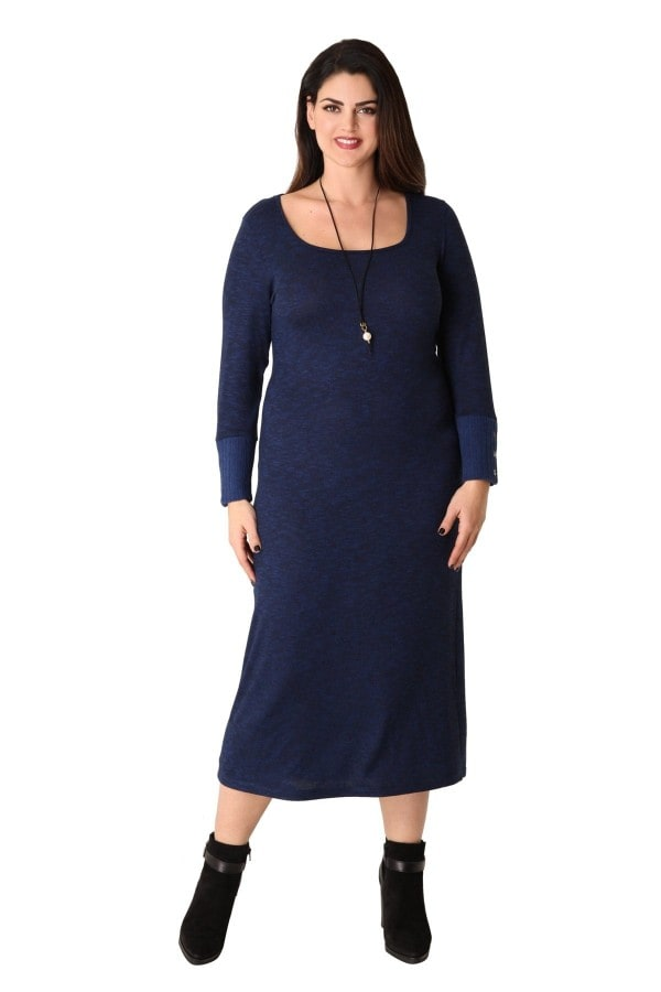 Knit marl maxi dress with pendant